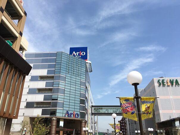 仙台のベッドタウン 泉中央駅周辺はSELVA・Ario、イトーヨーカドー等大型商業施設が。ベガルタ仙台の応援フラッグも!