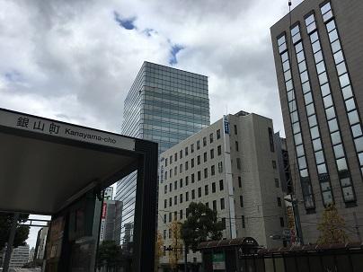 バス停・広島市電 銀山町すぐ